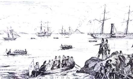 Porto del PIZZO nel 1852 da Colonna mobile in Calabria di Horace Rilliet