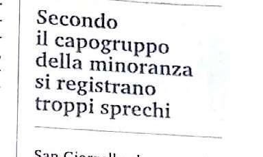 """BORRELLO A CALLIPO: """"SULL'ACQUA BASTA BARZELLETTE"""""""