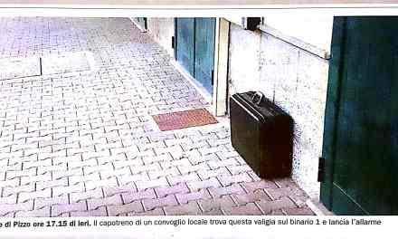 Valigia abbandonata sui binari alla Stazione di Pizzo