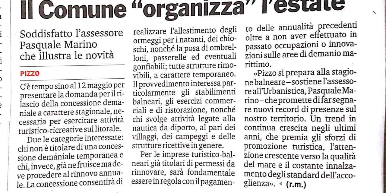 """Il Comune organizza l""""estate"""
