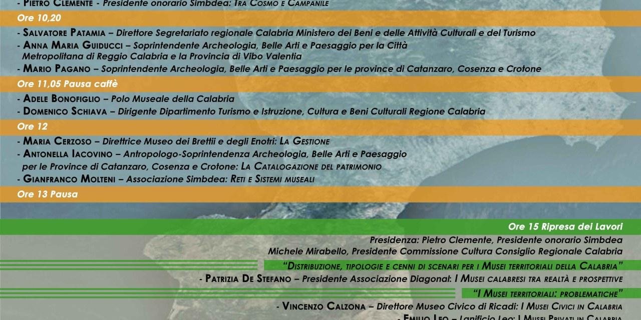 """IMPORTANTE CONVEGNO A RICADI: """"MUSEI IN CALABRIA"""""""