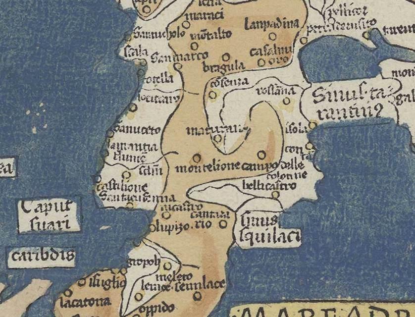 Antica Cartina Geografica della Calabria