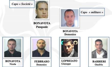 """'Ndrangheta: operazione """"Conquista"""" contro i Bonavota, 9 condanne"""