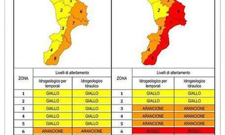 Domani allerta rossa su fascia ionica – Calabria