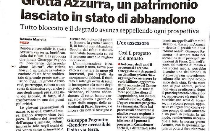 GROTTA AZZURRA, UN PATRIMONIO LASCIATO IN STATO DI ABBANDONO