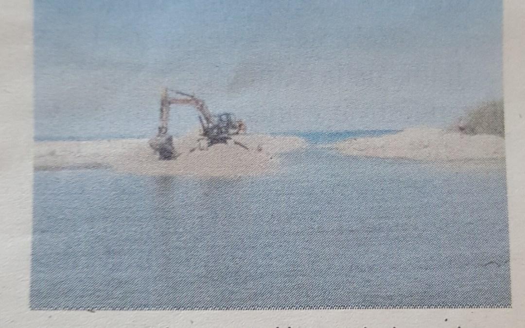 Angitola, riaperta la foce del fiume