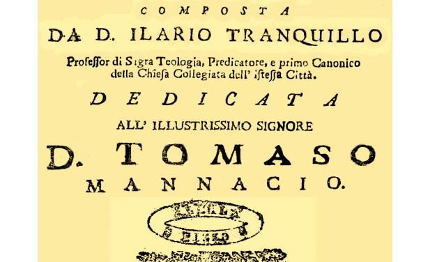 ISTORIA APOLOGETICA DELL'ANTICA NAPITIA OGGI DETTA IL PIZZO COMPOSTA DA D. ILARIO TRANQUILLO NEL 1725