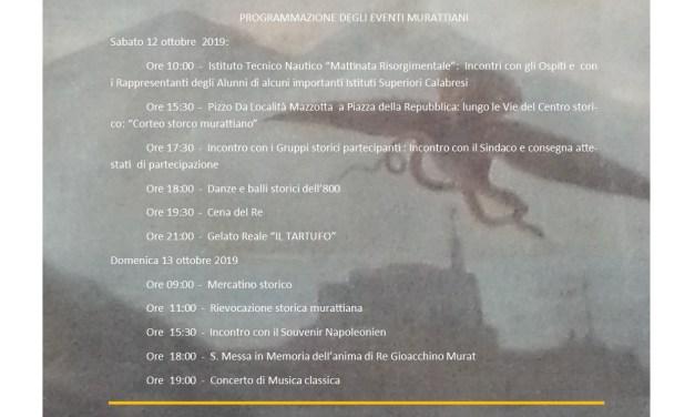 PROGRAMMAZIONE EVENTI DELLA RIEVOCAZIONE STORICA MURATTIANA DEL 2019