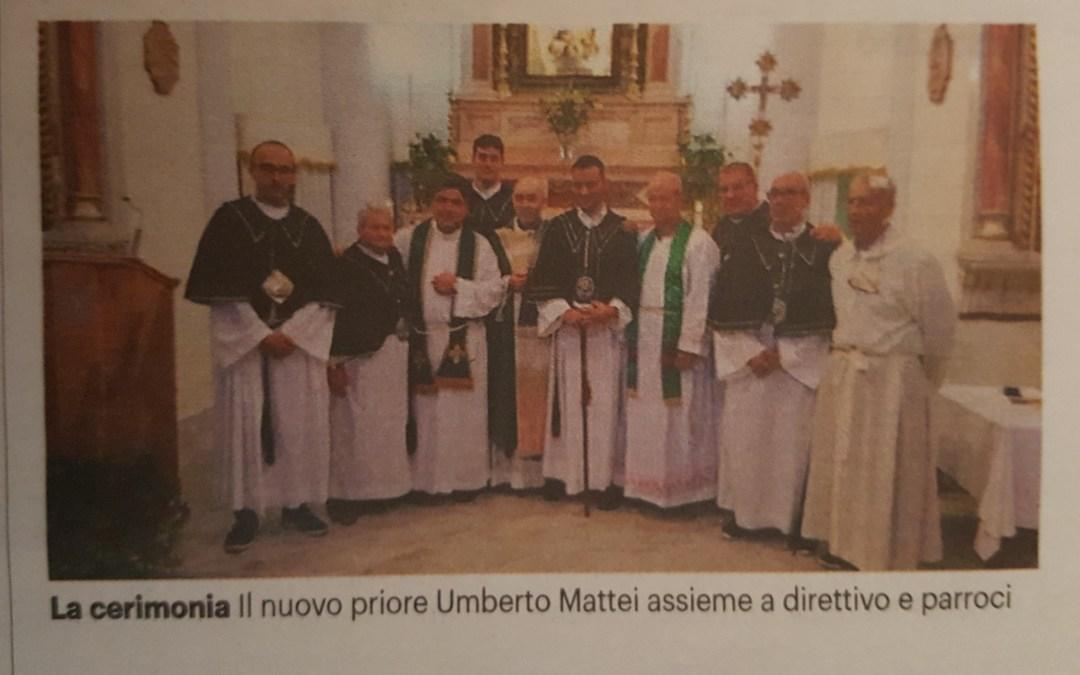 Confraternita, Mattei designato nuovo priore