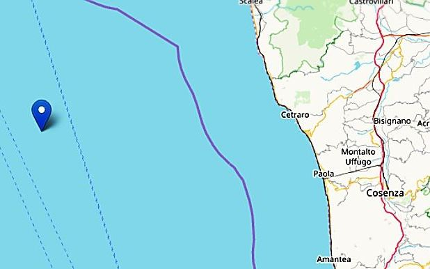 La Calabria trema: terremoto 3.4 al largo di Cetraro