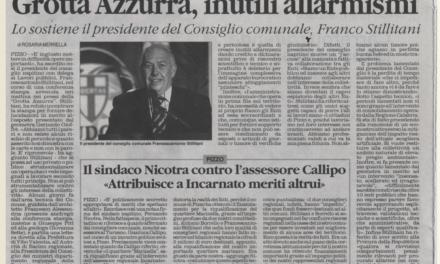 Grotta Azzurra, inutili allarmismi [5/7/2011]