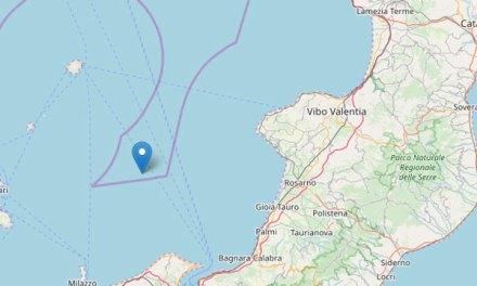 Terremoto di magnitudo 4.0 nel Tirreno meridionale tra Calabria e Sicilia
