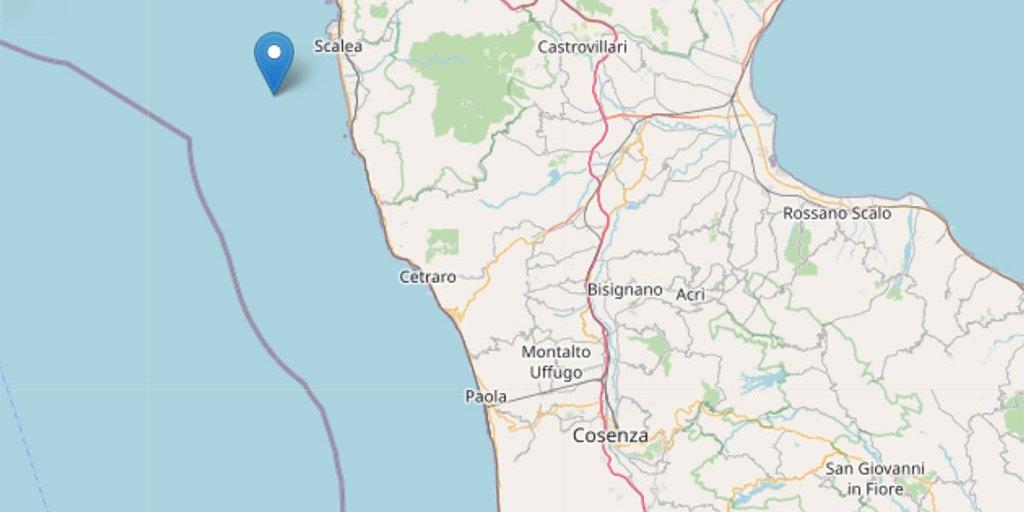 Terremoto, scossa di magnitudo 3.2 sulla costa calabra nord occidentale