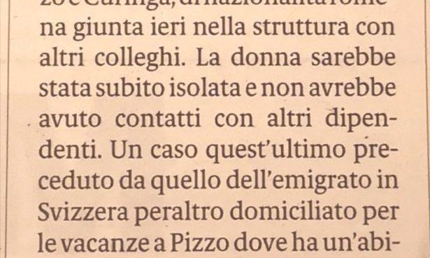 Nuovo caso a Pizzo