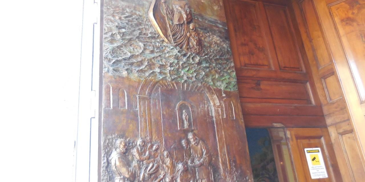 Santuario San Francesco. Nuovo portale in bronzo