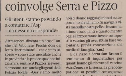 Il caso AstraZeneca coinvolge  Serra e  Pizzo