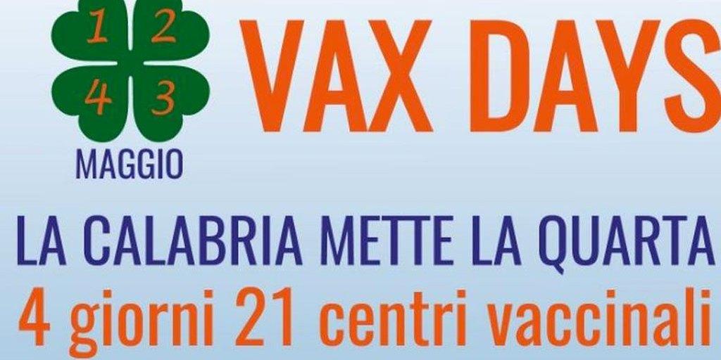 """Dall'1 al 4 maggio arriva """"Vax days"""" in Calabria per incrementare somministrazioni, tra punti vaccinali anche Lamezia e Soveria – il Lametino.it"""