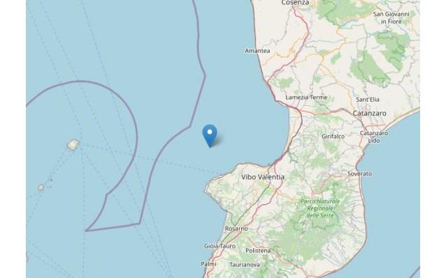 Terremoto avvertito in Calabria: epicentro al largo di Tropea [DATI e MAPPE] | Stretto Web