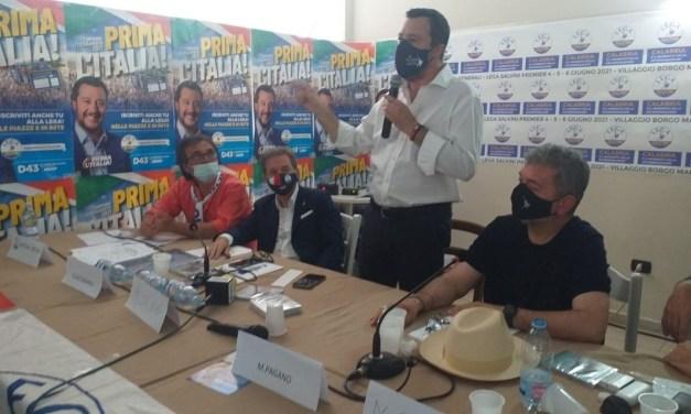 Elezioni Calabria, Salvini a Zambrone: «La presidenza spetta a Forza Italia»
