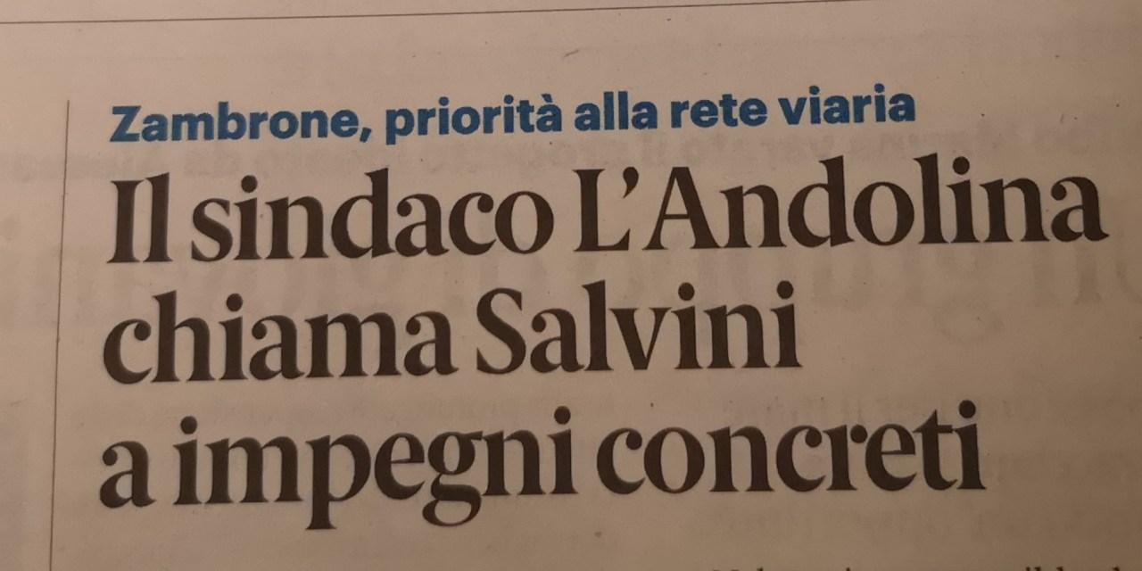 Il sindaco L'Andolina chiama Salvini a impegni con reti