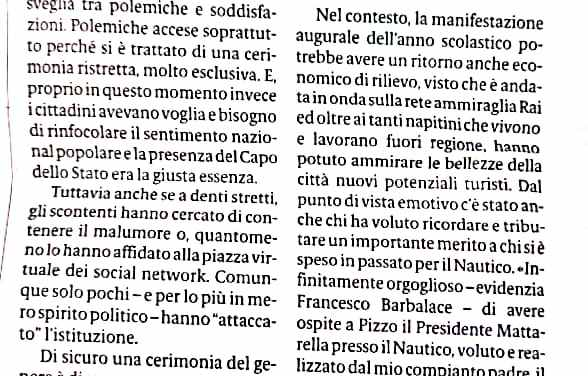 La visita di Mattarella lascia qualche polemica