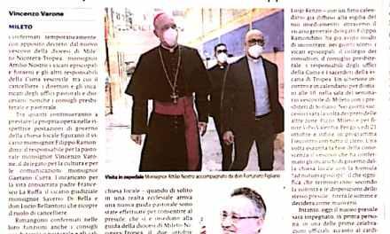 Il Vescovo conferma la vecchia squadra nella continuita' del Governo della Chiesa
