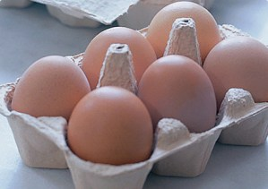 Locally produced barn eggs (chicken)