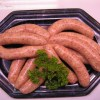 Pork Sausages with apple & chestnuts