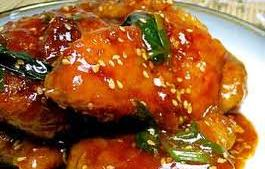 Sweet sticky Chinese chicken fillet in a ready to cook box
