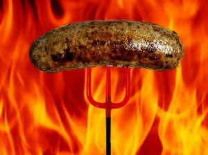 Suicide pork sausage