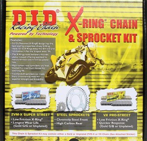 DID 525VX Chain and Sprocket Kit Yamaha R6 06-16