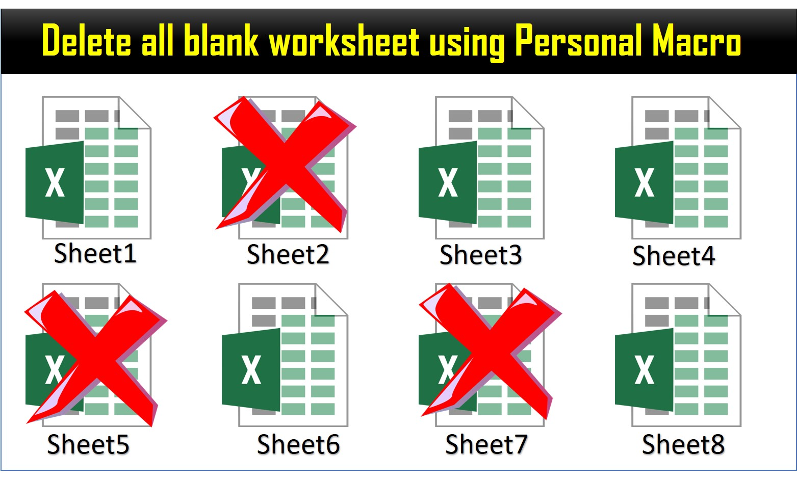 Delete All Blank Worksheet Using Personal Macro