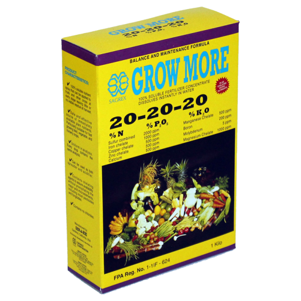 GrowMore 20-20-20 Fertilizer