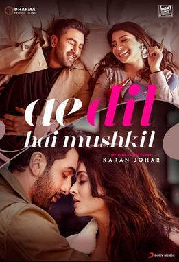 Ae Dil Hai Mushkil 2016 Indian movie poster