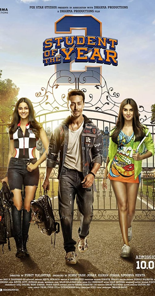 Student of the Year 2 indian Movie Poster