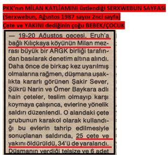 YILLARCA DEVLET YAPTI DENEN KATLİAMI PKK'NIN ÜSTLENDİĞİNİN KANITI