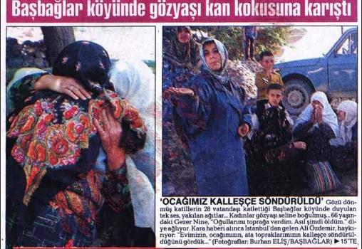 pkk'nın Başbağlar köyü katliamı