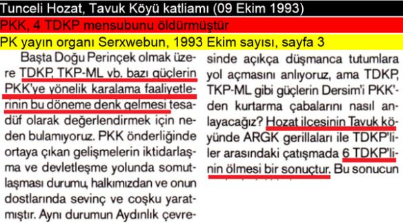 pkk'nın sol örgütlere uyguladığı katliamlar