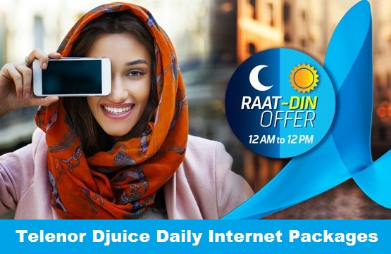 telenor djuice daily net packages