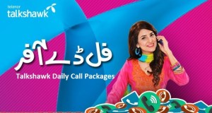 telenor talkshawk daily call packages