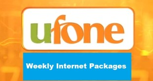 ufone weekly internet package
