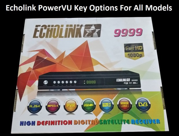 Echolink HD Receiver PowerVU Key Option For All Models - PkTelcos