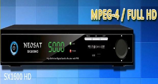 Neosat Sx-1600 receiver new powervu key software