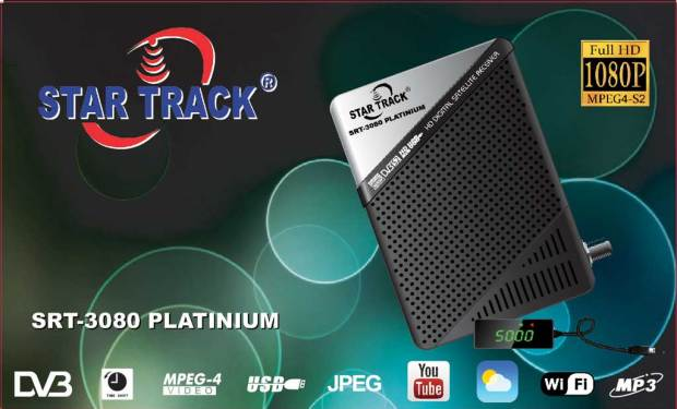 Star Track SRT-3080 Platinum Receiver New PowerVU Key Software