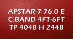 Apstar-7 Strong TP with Dish Size
