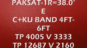 Paksat Strong TP with Dish Size