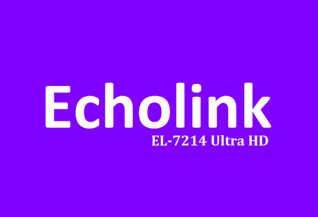 Echolink EL-7214 Ultra HD Receiver New PowerVU Key Software