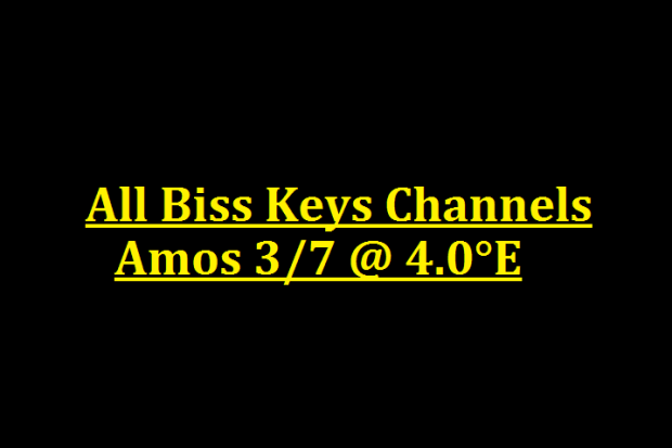 Amos 3/7 All Biss Keys Channels @ 4.0°E