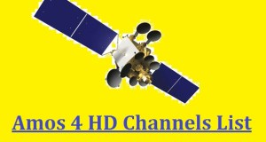 Amos 4 HD Channels List with Frequency @ 65° East