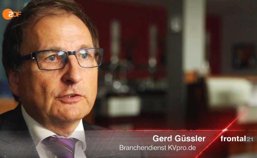 Basistarif PKV: Frontal 21 fragt KVpro-Geschäftsführer Gerd Güssler